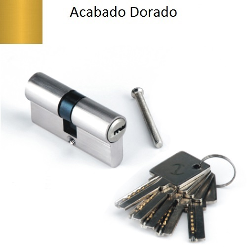 Bombillo de seguridad de 70 mm Llave Puntos mod. CS  CS35-35, color dorado